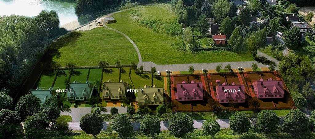 Osada Lednicka - etapy budowy